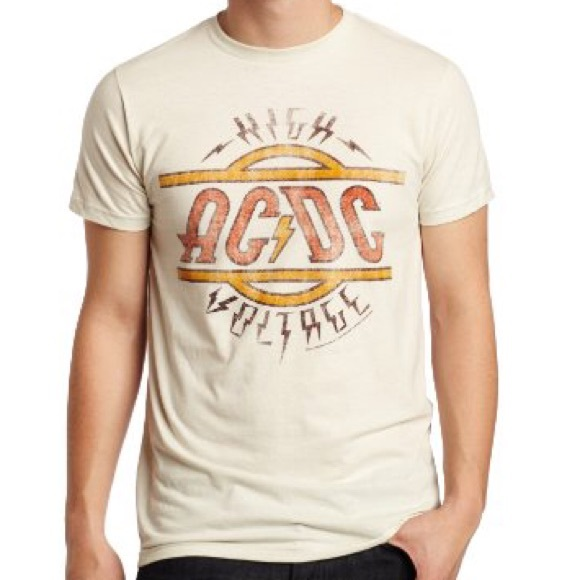 7304928e08c ACDC Graphic Band Tee - AC DC High Voltage T-Shirt